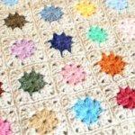 Joining Crochet Squares … Cluster Burst Afghan