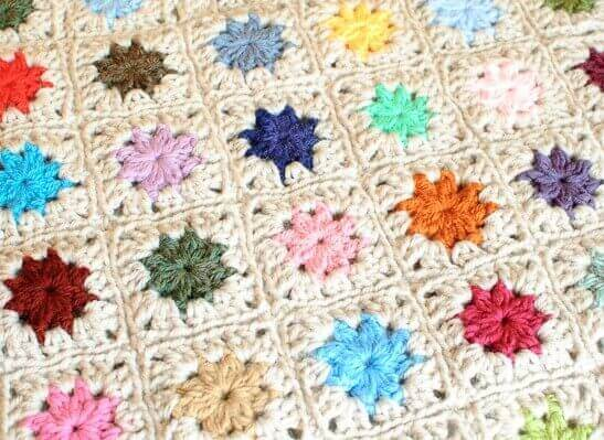 Crochet Stitches To Join Granny Squares : Joining Crochet Squares ? Cluster Burst Afghan - Petals to Picots