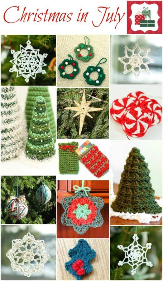 Free Crochet Patterns For Xmas Gifts : Christmas in July ... And Free Christmas Crochet Patterns - Petals to ...