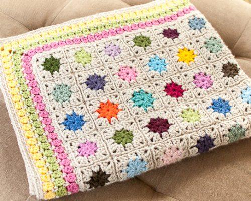 cluster burst afghan crochet border pattern (1 of 6)