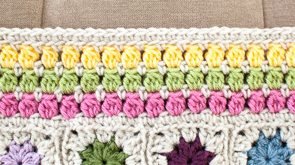 Cluster Burst Crochet Edging Pattern