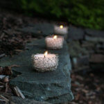 Wire crochet tealight holders