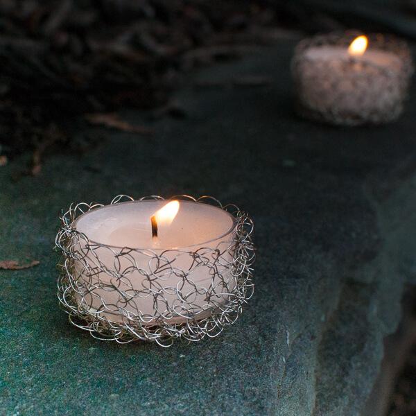 Wire Crochet Tealight Holder