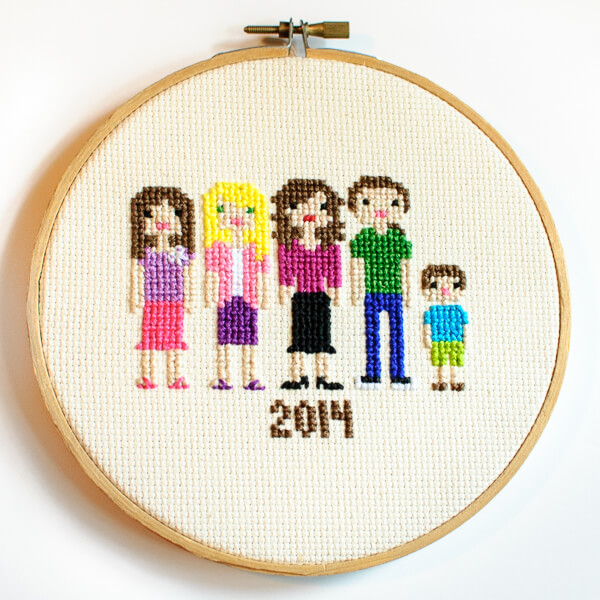 My Cross Stitch Family Portrait