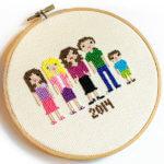 My Cross Stitch Family Portrait
