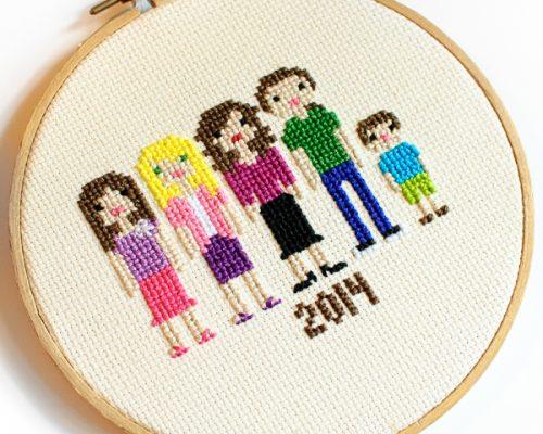 cross stitch family portrait-3