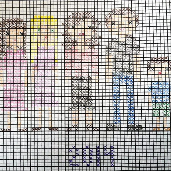 Cross Stitch Grid Template