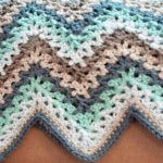 V-Stitch Crochet Ripple Afghan Pattern