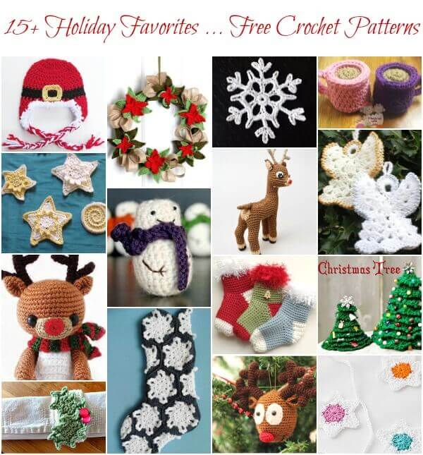 15+ Holiday Favorites ... Free Christmas Crochet Patterns ...