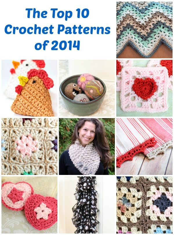 Top 10 crochet patterns of 2014 www.petalstopicots.com #crochet # ...