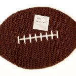 Crochet Football Cork Board Pattern