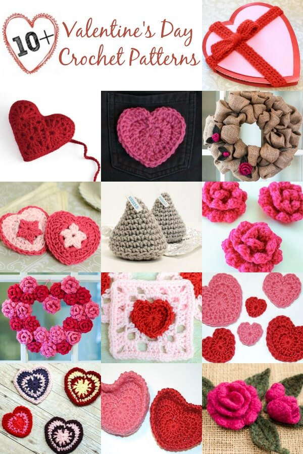10+ Free Valentines Day Crochet Patterns - Petals to Picots