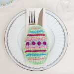 New - Easter Egg Crochet Pattern Place Setting - Coaster (1 of 3)