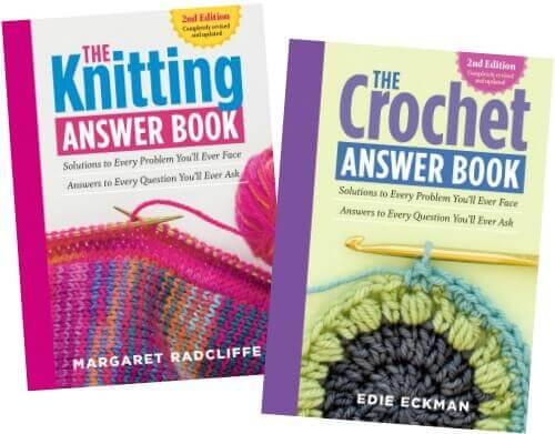 The Crochet and Knitting Answer Books ... New on the Bookshelf | www.petalstopicots.com | #crochet #knit #knitting