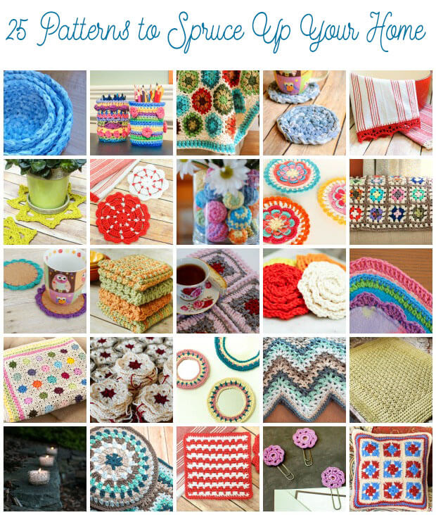 Home 25 Crochet Patterns to Spruce Up Your Home | www.petalstopicots.com | #crochet #patterns #decor #home