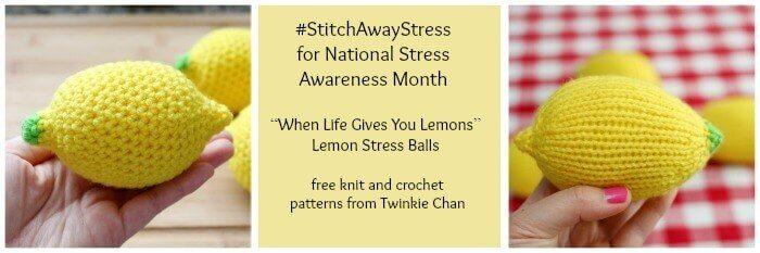 Stitch Away Stress ... Free Knit and Crochet Lemon Patterns #crochet #knit