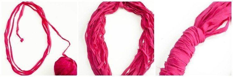 Easy DIY Loop Scarf {No Sewing, Knitting, or Crocheting Required!} | www.petalstopicots.com | #DIY #crafts #scarf