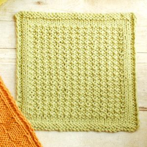 Textured Easy Knit Dishcloth Pattern