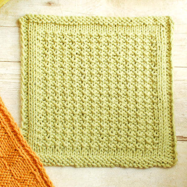 Knitting Dishcloth Patterns : Textured Knit Dishcloth Pattern - Petals to Picots
