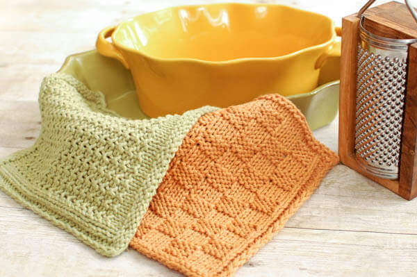 Simple Textured Stitch Knit Dishcloth Pattern