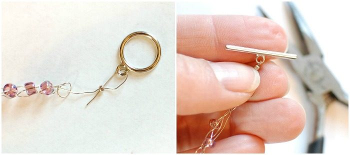 Wire Wrapped Beaded Crochet Bracelet | www.petalstopicots.com | #crochet #jewelry #bracelet #wire