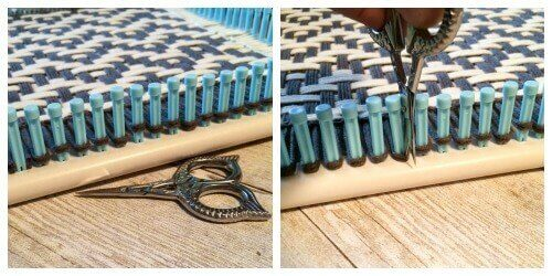 How to Weave Placemats on a Loom | www.petalstopicots.com | #weave #weaving #loom #yarn #crafts