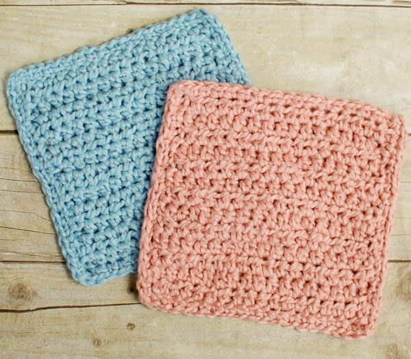 Crochet Baby Washcloth Pattern : Baby Crochet Bath Set Patterns - Petals to Picots