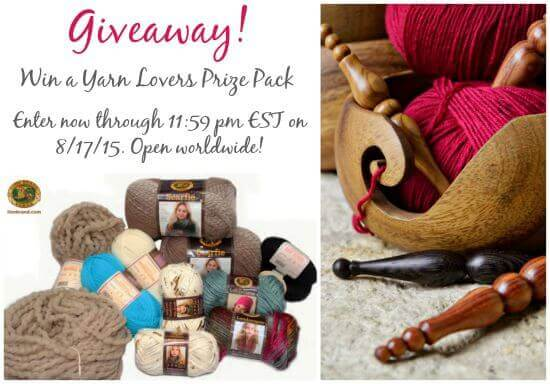 Win a Yarn Lovers Prize Pack ... runs through 11:59 pm EST on 8/17/15 #yarn #crochet #knit