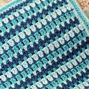 Sea Glass Crochet Afghan Pattern | www.petalstopicots.com | #crochet #afghan #blanket #pattern