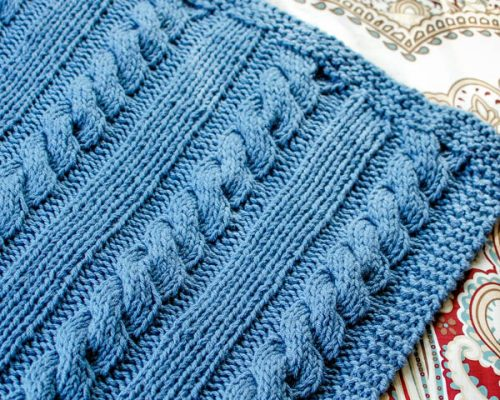 knit cable afghan (1 of 3)