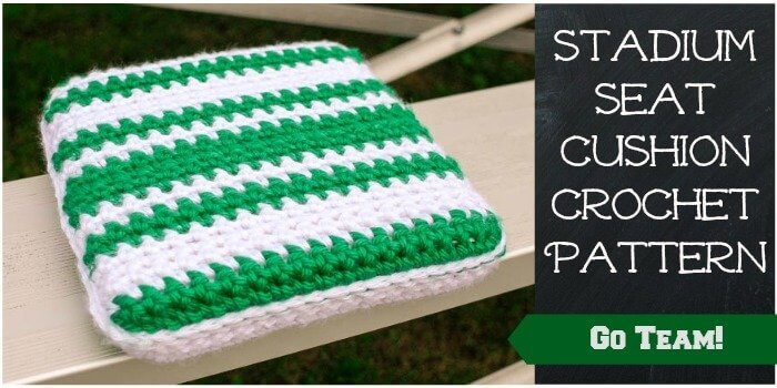 Stadium Seat Cushion Crochet Pattern Petals to Picots