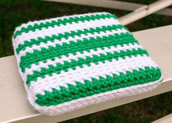 Stadium Seat Cushion Crochet Pattern Petals To Picots