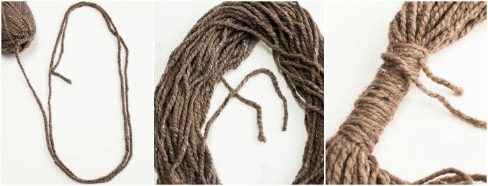 Easy Yarn Loop Scarf | www.petalstopicots.com | #yarn #crafts #DIY #scarf