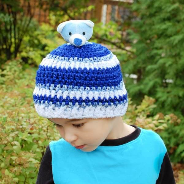 Top This Child Crochet Hat Pattern | www.petalstopicots.com | #crochet #hat #pattern