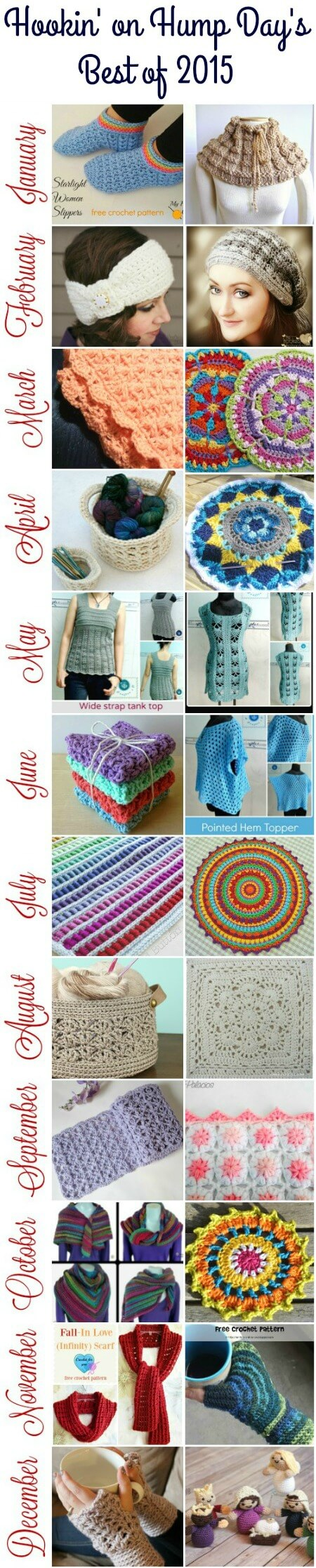 Hookin' on Hump Day Top Projects of 2015 #crochet #knit