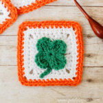 Free Saint Patrick's Day Crochet Patterns - Clover Afghan Square