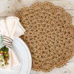Jute Crochet Placemats … Free Pattern