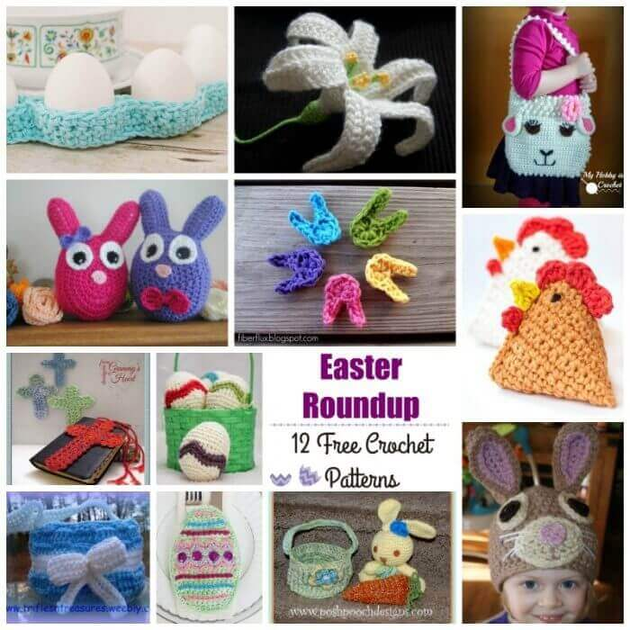 12 Free Easter Crochet Patterns - Petals to Picots