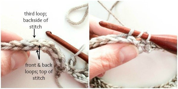 Half double crochet in third loop | www.petalstopicots.com