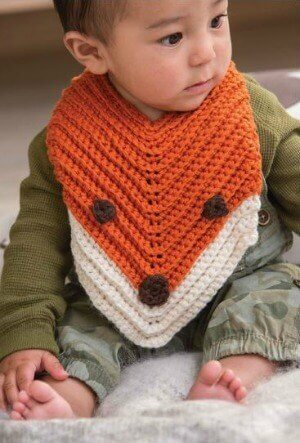Finley the Fox Bib ... Free Crochet Pattern