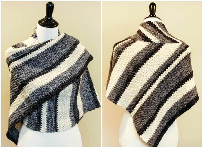 Ombre Shawl ... Free Crochet Pattern