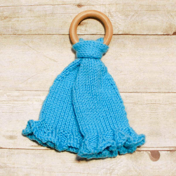 Teether Lovey Knit Pattern, www.petalstopicots.com