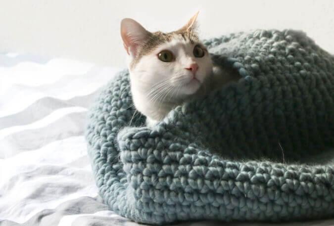 Crochet Cat House Pattern