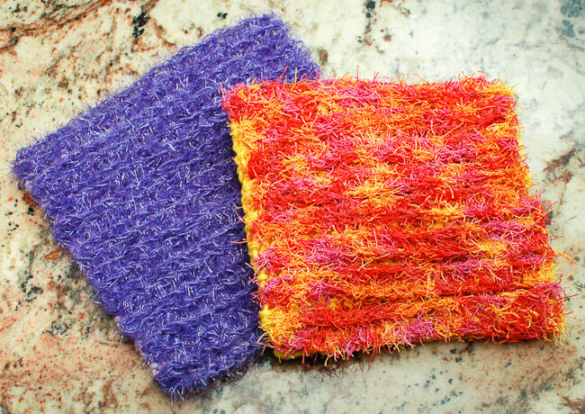 Knitted Scrubbies Free Pattern : Free Scrubby Crochet Dishcloth Patterns Petals to Picots