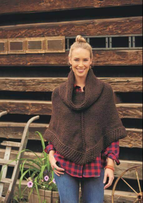 Getaway Poncho Knit Pattern
