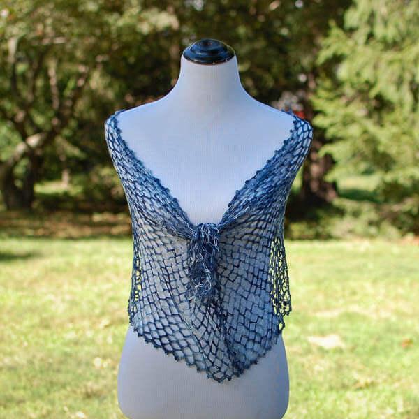 Solomon's Knot Whisper Wrap Crochet Pattern | www.petalstopicots.com
