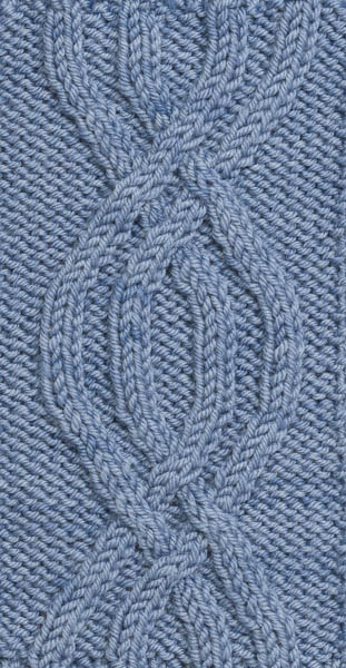 4-Rib Symmetrical Pretzel Knit Cable Pattern