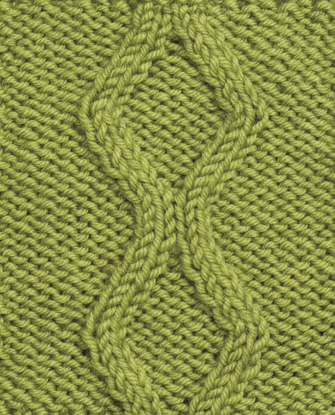 No Cross Diamond Knit Cable Pattern Petals To Picots