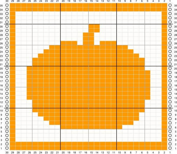 Pumpkin Tunisian Crochet Dishcloth Pattern