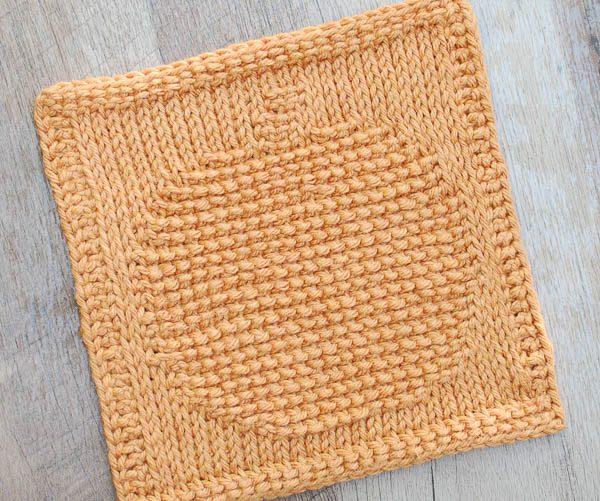 Knitted Dishcloth Patterns For Halloween : Pumpkin Tunisian Crochet Dishcloth Pattern Petals to Picots Blog Bloglovin